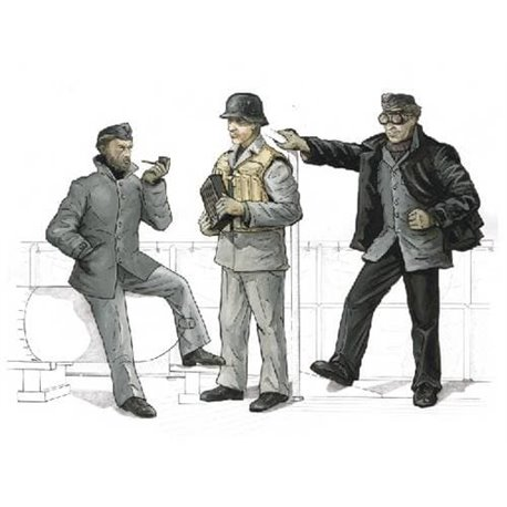 CMK F72159 1/72 German crew for AA-gun 3,7 for Revell Schnellboot S-100 (3 fig.)