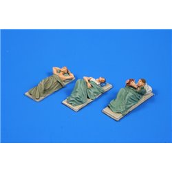 CMK F72255 1/72 Sailors Resting on Bunks (3 Figures Set)