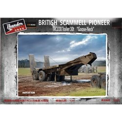 "THUNDER MODEL 35208 1/35 British Scammell Pioneer TRCU30 Trailer 30t ""Goose-Neck"""