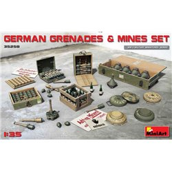 MINIART 35258 1/35 German Grenades & Mines Set WWII