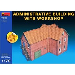MINIART 72021 1/72 Administrative Building With Workshop