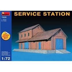 MINIART 72028 1/72 Service Station Multicolored Kit