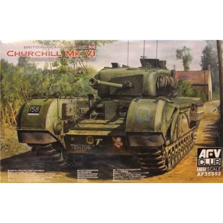 AFV CLUB AF35S52 1/35 British Infantry Tank Churchill Mark VI w/ordnance