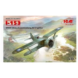 ICM 32012 1/32 Polikarpov I-153 WWII China Guomindang Air Force Fighter