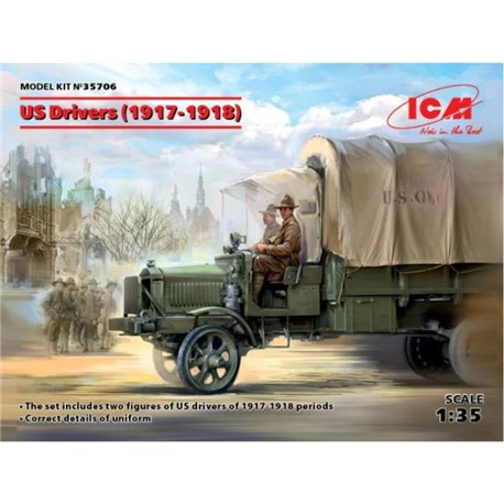 ICM 35706 1/35 US Drivers (1917-1918) 2 Figures