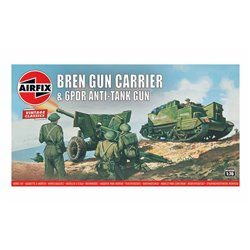 AIRFIX A01309V 1/76 Airfix Vintage - Bren Gun Carrier & 6pdr Anti-Tank Gun