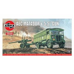 """AIRFIX A01314V 1/76 Airfix Vintage Classics - AEC Matador and 5.5"""" Gun"""