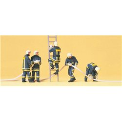 PREISER 10485 HO 1/87 Firemen Extinguishing the fire