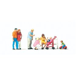 PREISER 10695 HO 1/87 Famille – Familiy day out