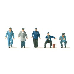 PREISER 10752 HO 1/87 Conducteurs – Drivers for electric vehicle