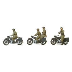 PREISER 16598 HO 1/87 Motorcycle Wehrmacht
