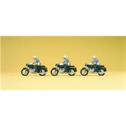 PREISER 16833 HO 1/87 Military Police on motorcycles