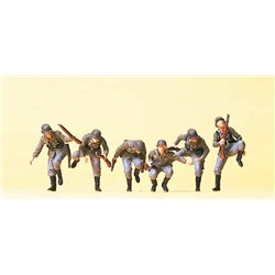 PREISER 16878 HO 1/87 Armoured infantry riflemen getting off the tank