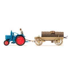 PREISER 17939 HO 1/87 Farm tractor Lanz D 2416 with liquid manure wagon.