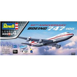 REVELL 05686 1/144 Boeing 747-100 50th anniversary jumbo jet