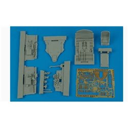 AIRES 4465 1/48 P-47D Razorback cockpit set for Tamiya