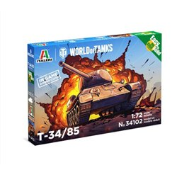ITALERI 34102 1/72 T-34/85 - WoT - Easy to Build