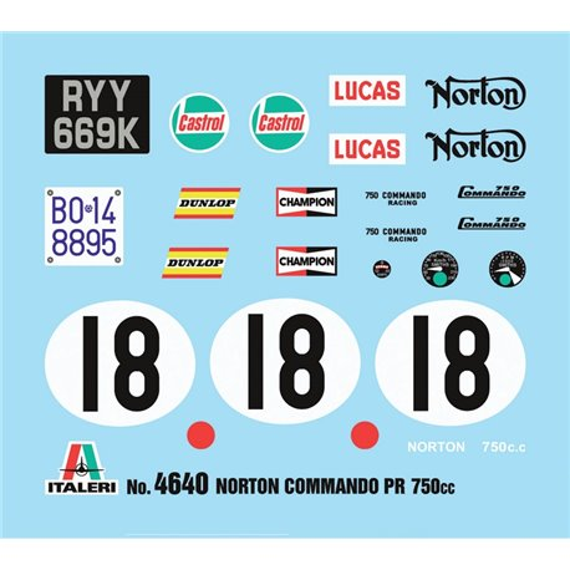 ITALERI 4640 1/9 Norton 750 Commando PR