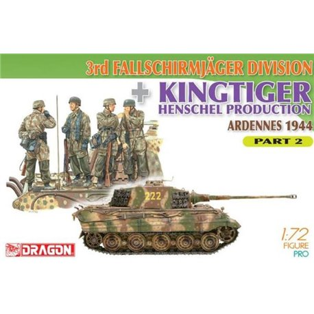DRAGON 7362 1/72 3rd Fallschirmjäger Division + King Tiger Henschel Prod Part 2