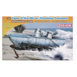 DRAGON 7485 1/72 IJN Type 2 Ka-Mi w/Floating Pontoon Amphibious Tank