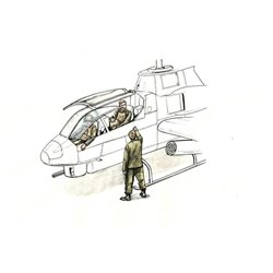 CMK F72349 1/72 AH-1 Sitting Pilots 2 Fig and Ground Crew 1 Fig for Special Hobby