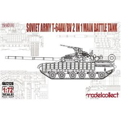 MODELCOLLECT UA72128 1/72 Soviet Army T-64AV/BV 2 in 1 Main Battle Tank