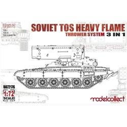 MODELCOLLECT UA72176 1/72 Soviet TOS Heavy Flame Thrower System 3 in 1
