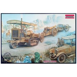 RODEN 814 1/35 Holt 75 Artillery tractor w/BL 8-inch Howitzer