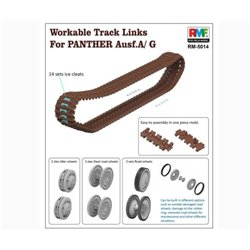 RYE FIELD MODEL RM-5014 1/35 Workable Track Links for Panther Ausf. A/G