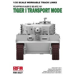 RYE FIELD MODEL RM-5027 1/35 Workable Track Links for Tiger I Transport Mode