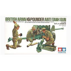 TAMIYA 35005 1/35 British Army 6pounder Anti-Tank Gun