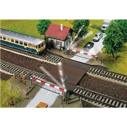 FALLER 120174 HO 1/87 Level-crossing with gatekeeper's house