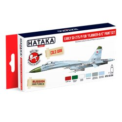 "HATAKA HTK-AS104 Early Su-27S/P/UB ""Flanker-B/C"" paint set (6 x 17 ml)"