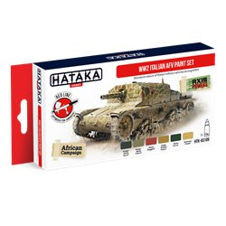 HATAKA HTK-AS106 WW2 Italian AFV paint set (6 x 17 ml)