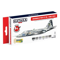 HATAKA HTK-AS109 Ukrainian AF paint set vol. 2 (Grey Pixel) (6 x 17 ml)