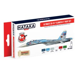 "HATAKA HTK-AS83 Ultimate Su-33 ""Flanker-D"" paint set (6 x 17 ml)"