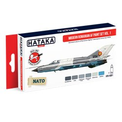 HATAKA HTK-AS91 Modern Romanian AF paint set vol. 1 (6 x 17 ml)