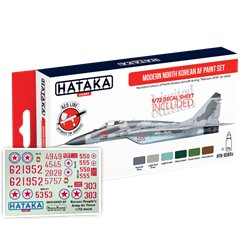 HATAKA HTK-AS93d Modern North Korean AF paint set with decals (6 x 17 ml)