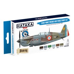 HATAKA HTK-BS16 Early WW2 French Air Force paint set (6 x 17 ml)
