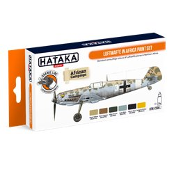 HATAKA HTK-CS06.2 Luftwaffe in Africa paint set (6 x 17 ml)