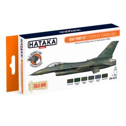 "HATAKA HTK-CS10 USAF Paint Set (""European"" Camouflage) (6 x 17 ml)"