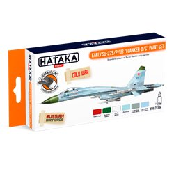 "HATAKA HTK-CS104 Early Su-27S/P/UB ""Flanker-B/C"" paint set (6 x 17 ml)"