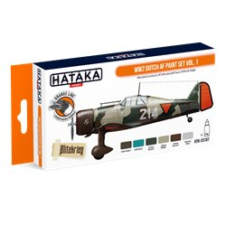 HATAKA HTK-CS107 WW2 Dutch AF paint set vol. 1 (6 x 17 ml)
