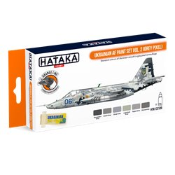 HATAKA HTK-CS109 Ukrainian AF paint set vol. 2 (Grey Pixel) (6 x 17 ml)