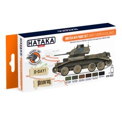 HATAKA HTK-CS22 British AFV paint set (WW2 European colours) (6 x 17 ml)