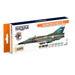 HATAKA HTK-CS27 Falklands Conflict paint set vol. 1 (8 x 17 ml)