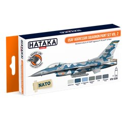 HATAKA HTK-CS30 USAF Aggressor Squadron paint set vol. 2 (6 x 17 ml)
