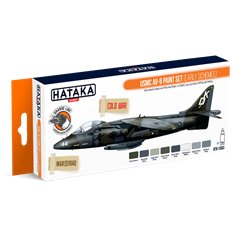 HATAKA HTK-CS63 USMC AV-8 paint set (early schemes) (8 x 17 ml)