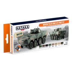 HATAKA HTK-CS72 Modern Polish Army AFV paint set (8 x 17 ml)