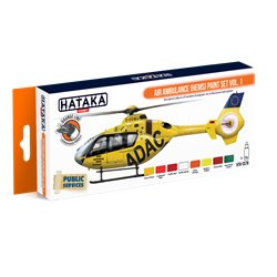 HATAKA HTK-CS76 Air Ambulance (HEMS) paint set vol. 1 (8 x 17 ml)